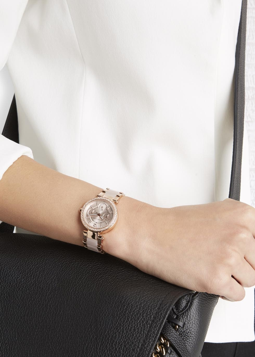 4535b17d40f0 Gallery. Previously sold at  Harvey Nichols · Women s Gold Watches Women s Michael  Kors Parker