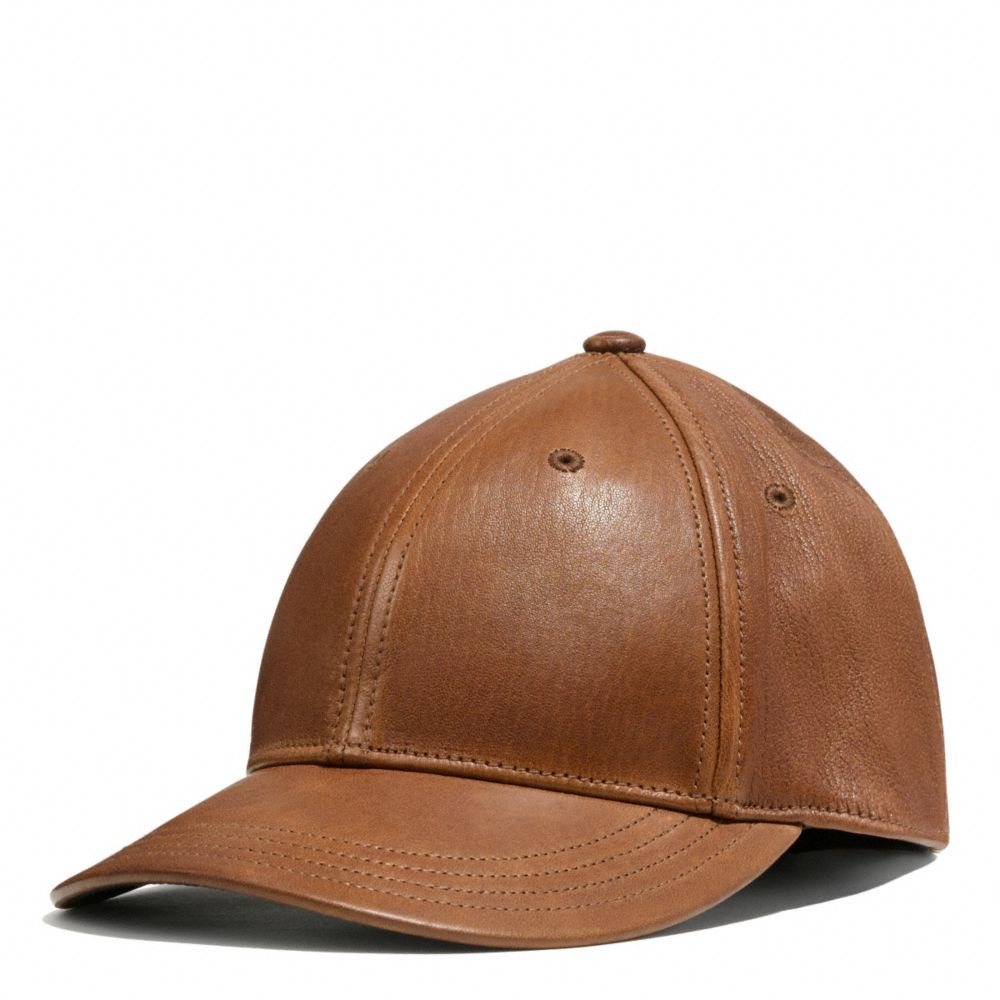 Lyst - COACH Leather Baseball Cap in Brown for Men d3abb453d39