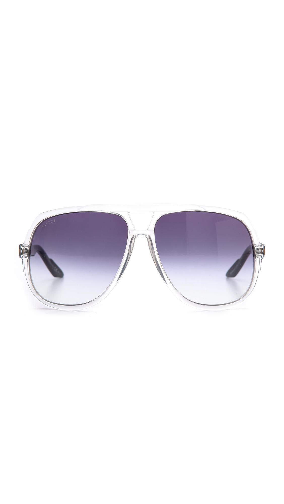 Oversized Mirrored Aviator Sunglasses  gucci mirrored oversized aviator sunglasses matte black black