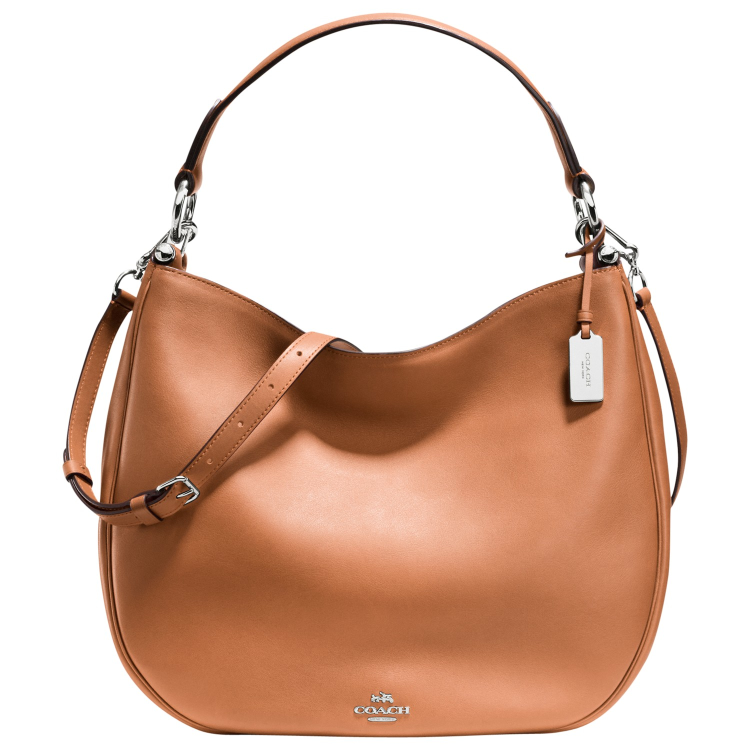 Coach Nomad Leather Hobo Bag in Brown | Lyst