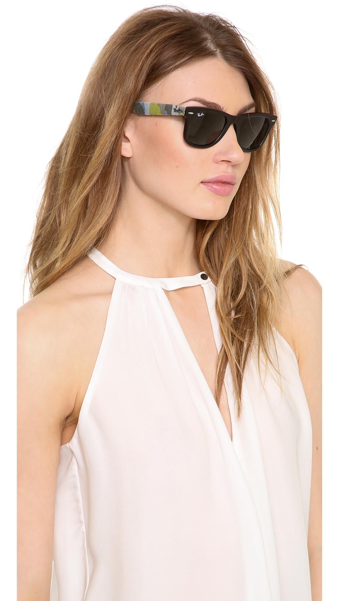 ray bans on sale wayfarers  Ray-ban Camouflage Wayfarer Sunglasses
