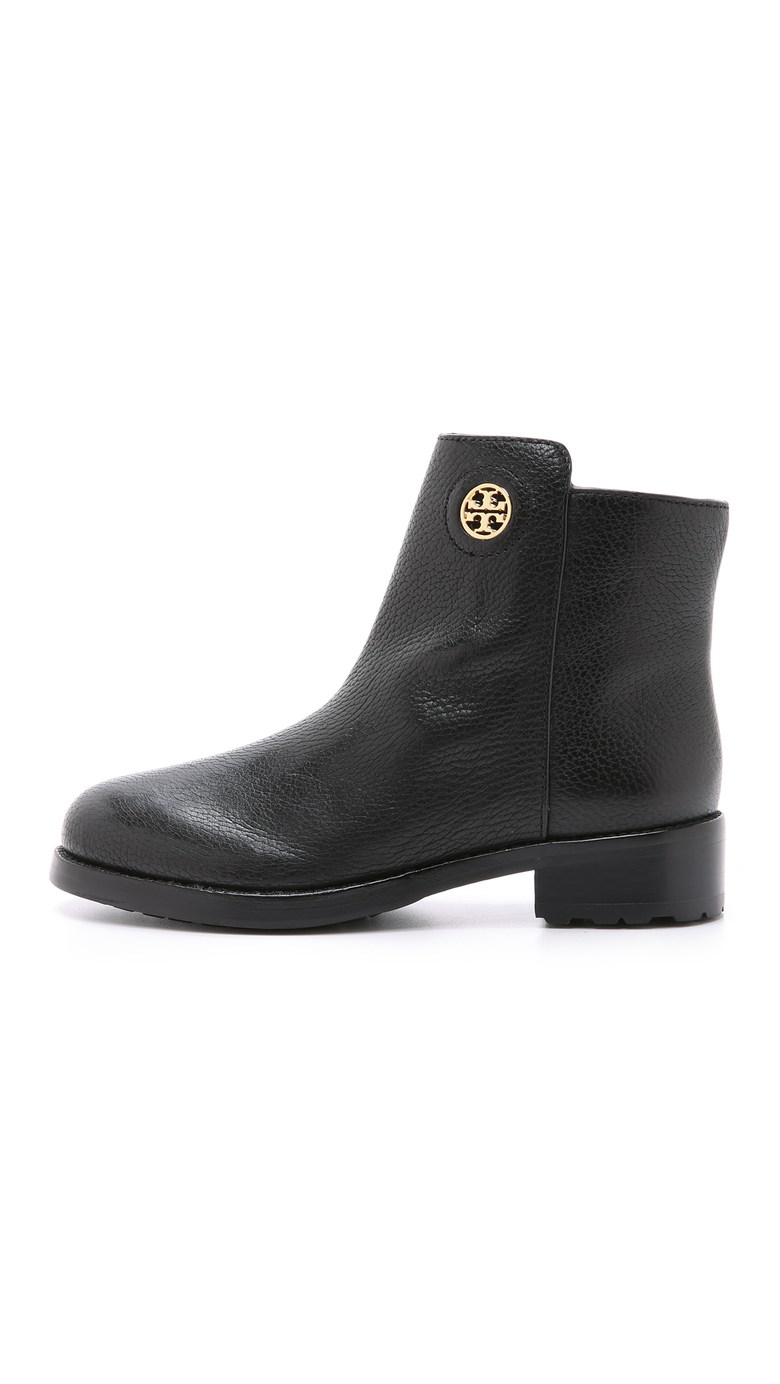 c34ffc4284043d ... best price lyst tory burch junction booties porcini in black 7bffe 3e2e2