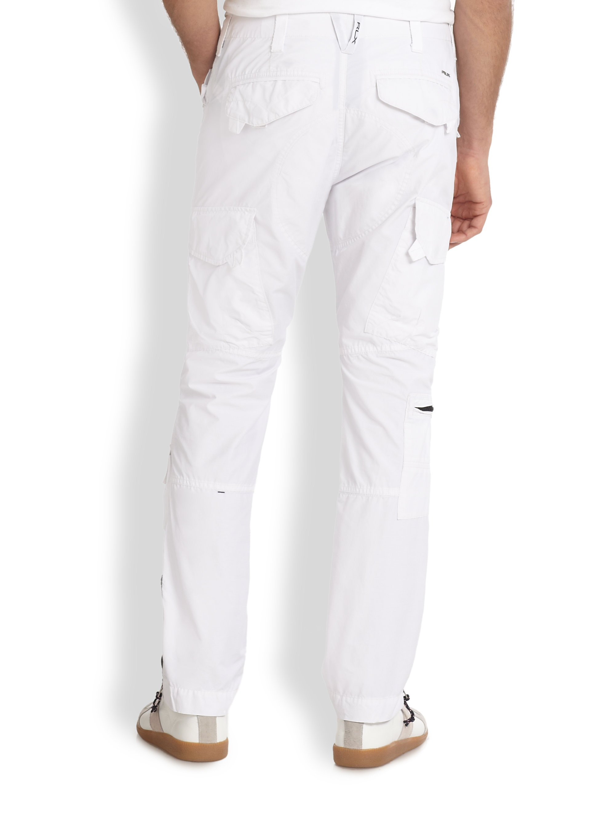 Rlx ralph lauren Search Rescue Cargo Pants in White for Men | Lyst