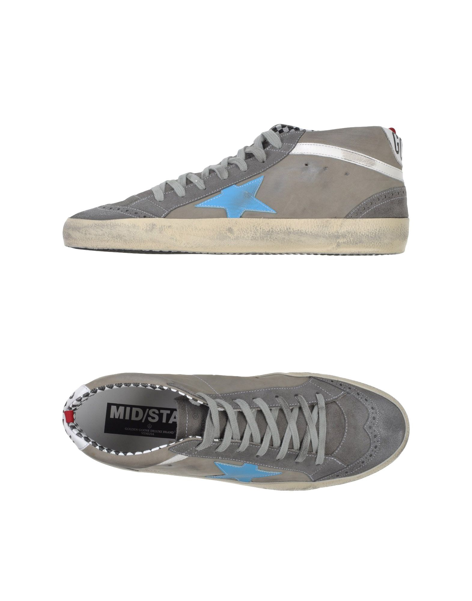 golden goose deluxe brand high tops trainers in gray for men lyst. Black Bedroom Furniture Sets. Home Design Ideas