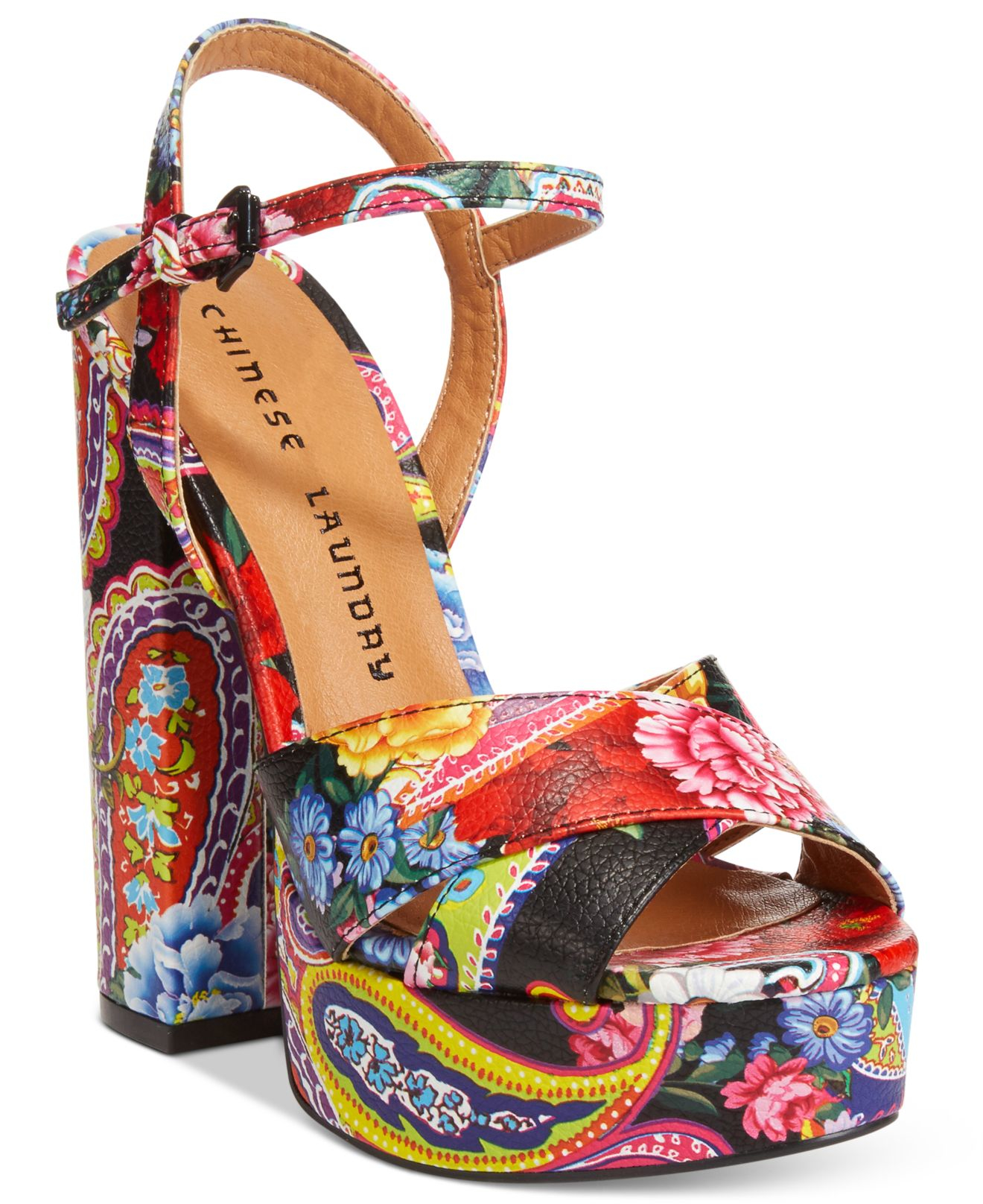 1fe0e49ca Chinese Laundry Aquarius Two-piece Platform Sandals - Lyst