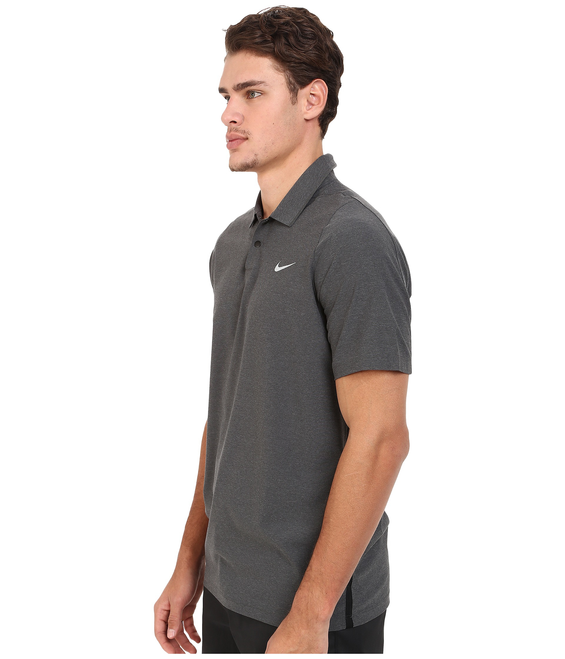 nike shox O'Nine shox hommes - Nike Tiger Woods Velocity Woven Solid Polo in Black for Men (Black ...