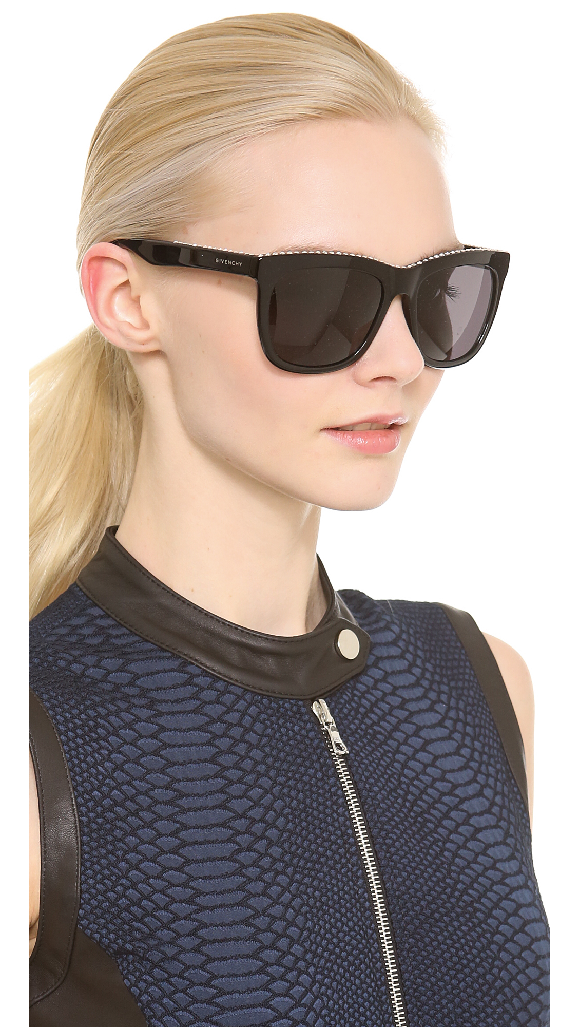 1a2ac6f2c5 Givenchy Swarovski Crystal Rim Sunglasses Blacksmoke in Black - Lyst