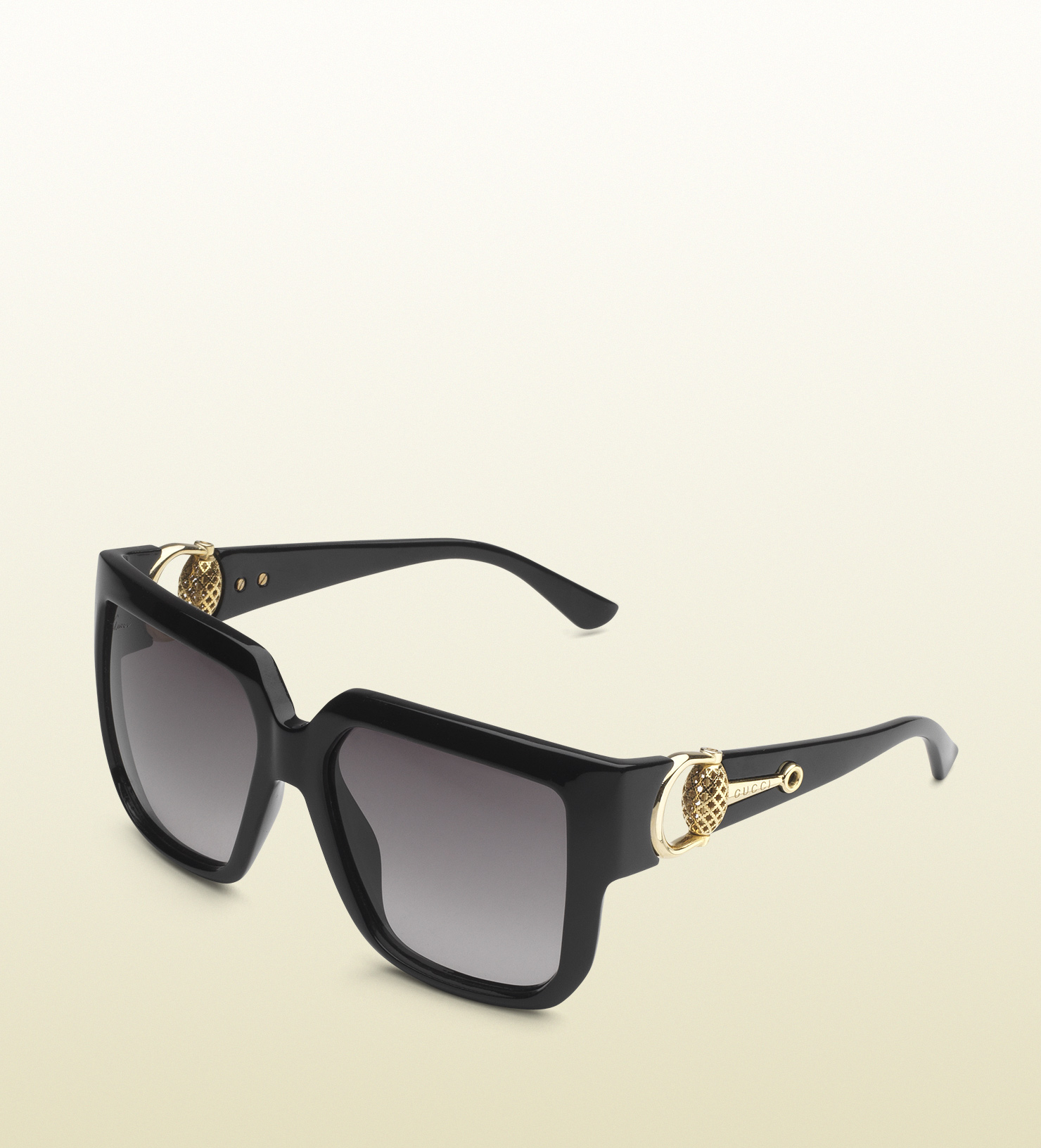 ba418327af Gucci Oversized Square-frame Horsebit Sunglasses in Black - Lyst