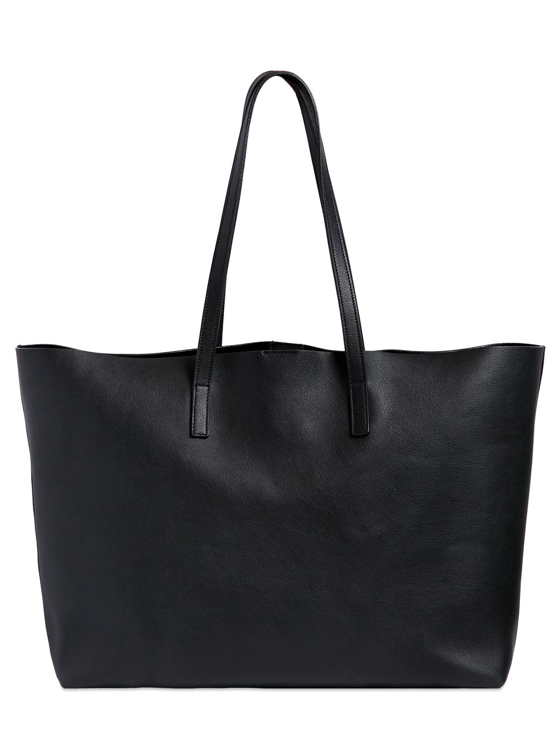 Lyst Saint Laurent Soft Leather Tote Bag In Black