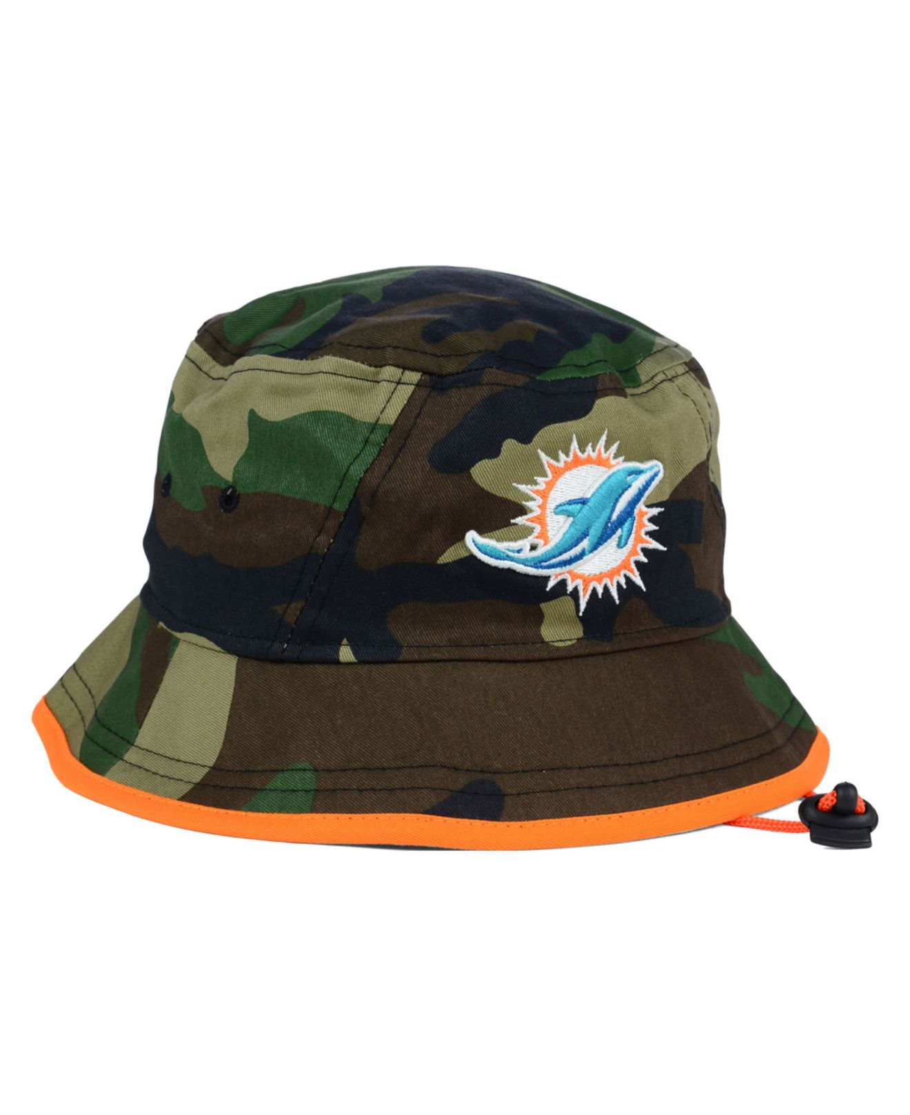 529d7ed2a40 closeout miami dolphins camo bucket hat usa 0b2a6 57bcd