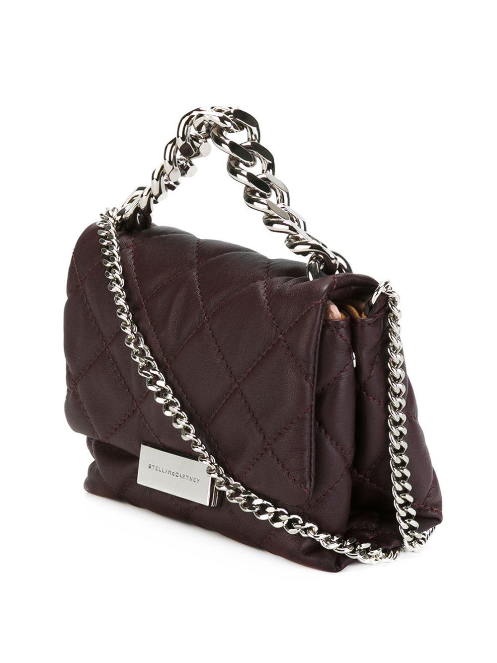 stella mccartney small 39 beckett 39 shoulder bag in purple pink purple lyst. Black Bedroom Furniture Sets. Home Design Ideas