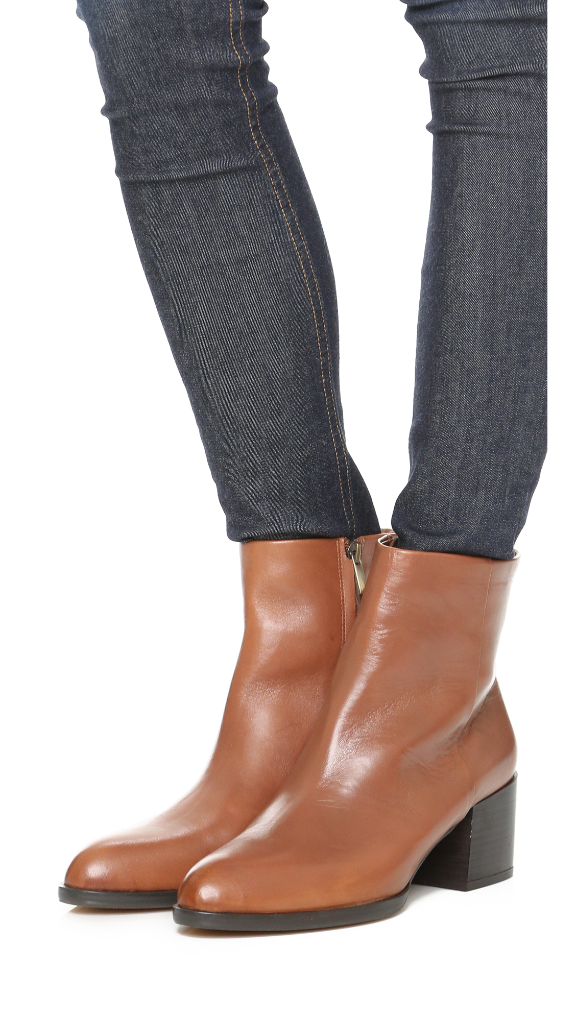a0f7a83a0258 Lyst - Sam Edelman Joey Booties in Brown
