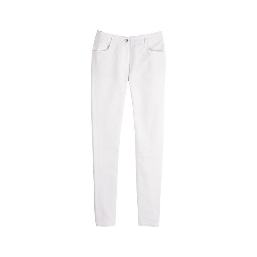 Creative  By Ralph Lauren Plus Stretchcotton Straightleg Pants In White  Lyst