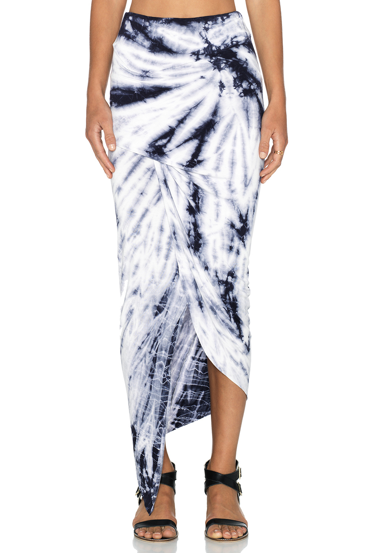 7208c8b44 Young Fabulous & Broke Sassy Asymmetric Skirt in Blue - Lyst