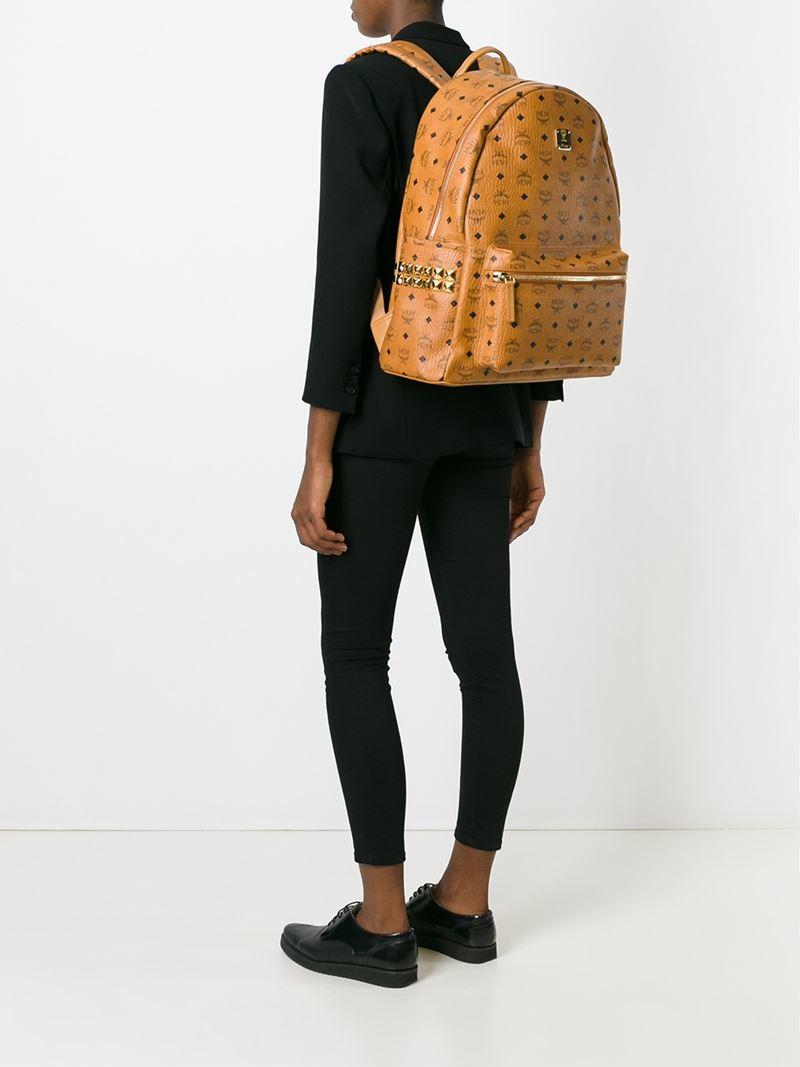 f9a070d413a Lyst - MCM Medium  stark  Backpack in Orange