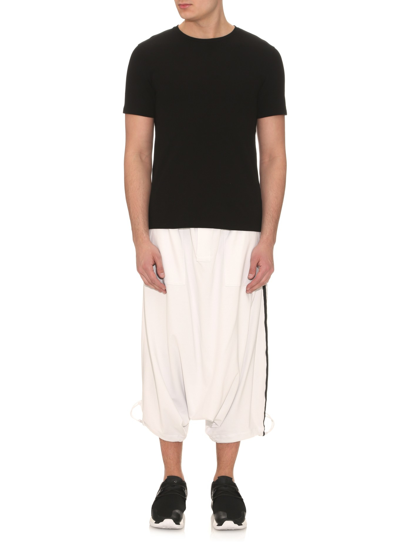 Y-3 Energy Sarouel Dropped-crotch Track Pants in White for ...