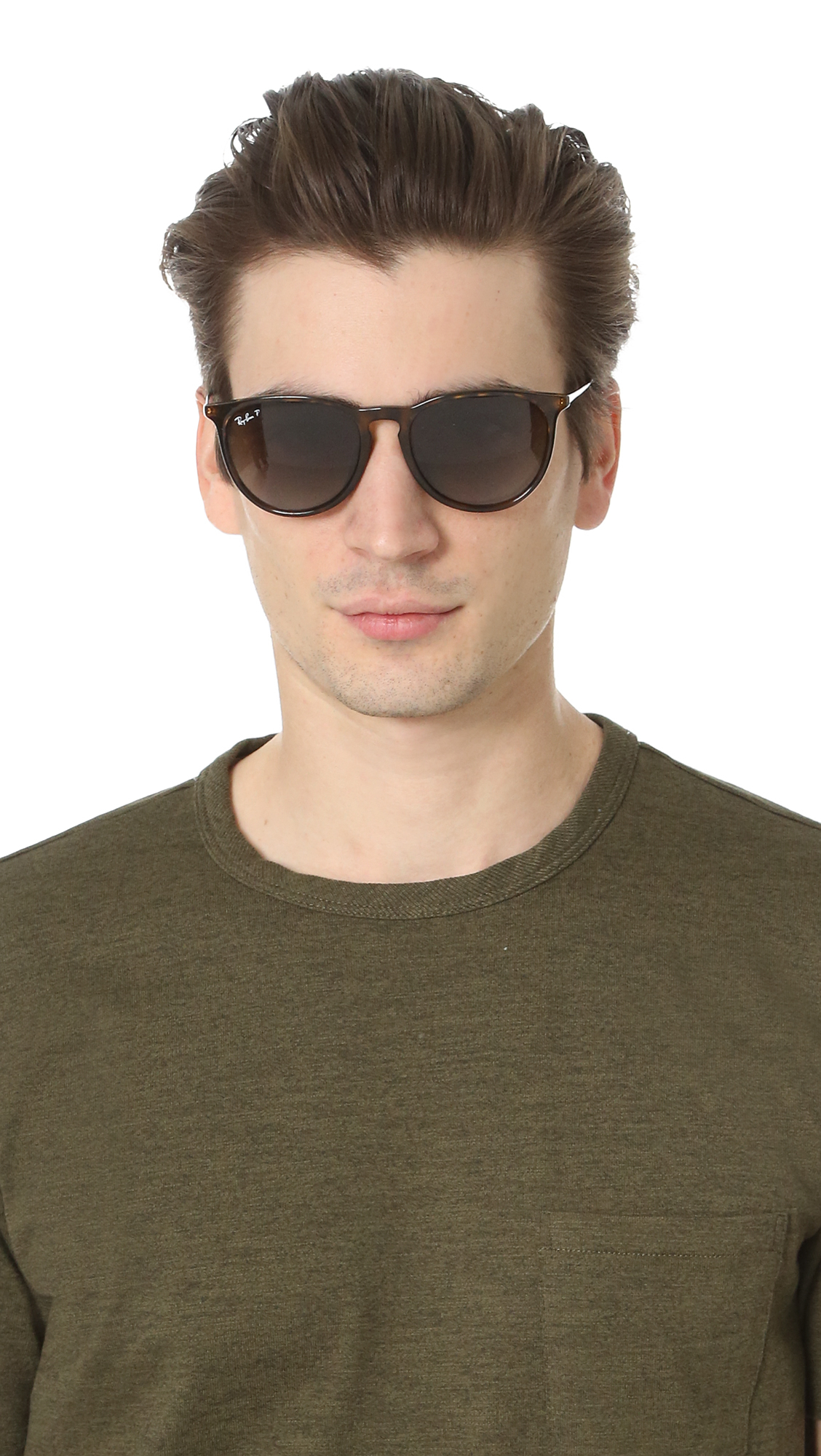 26049b6f8b0 Ray-Ban Full Fit Round Sunglasses in Brown for Men - Lyst
