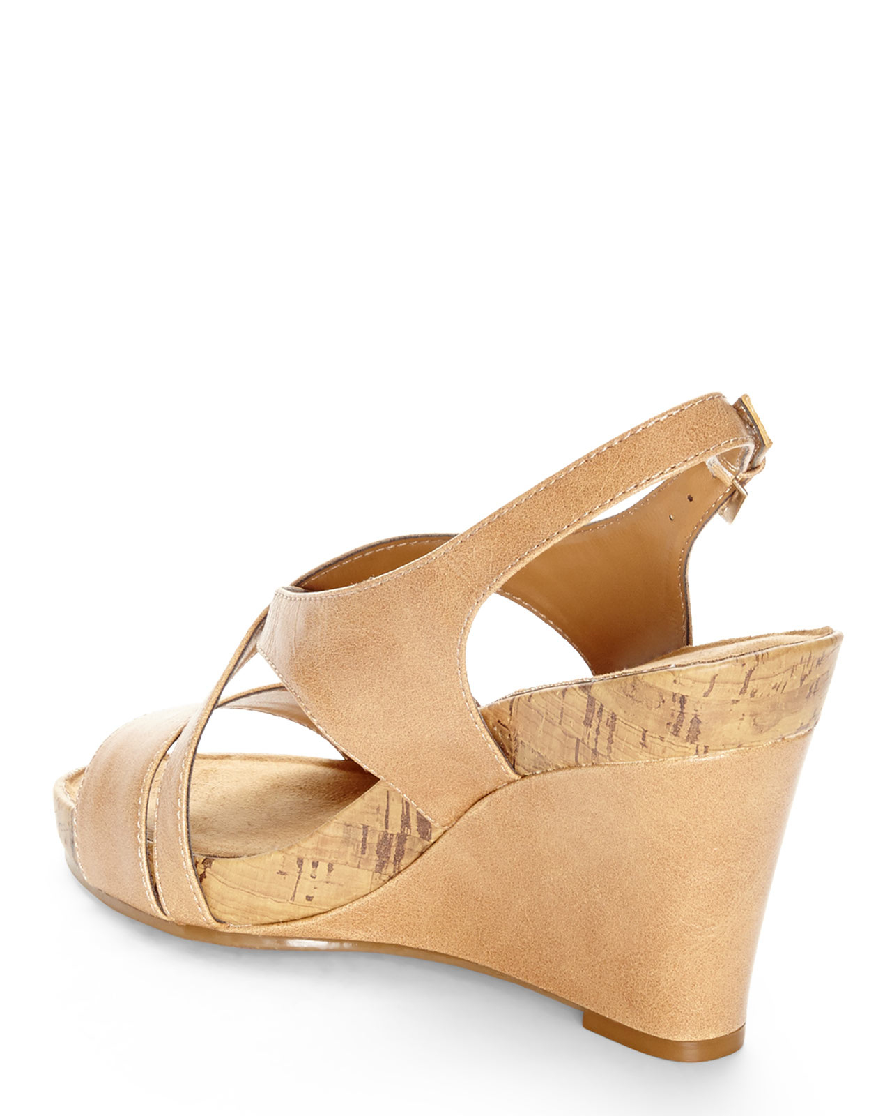 13048a34ccfd Lyst - Aerosoles Plushed Together Wedge Sandals in Natural