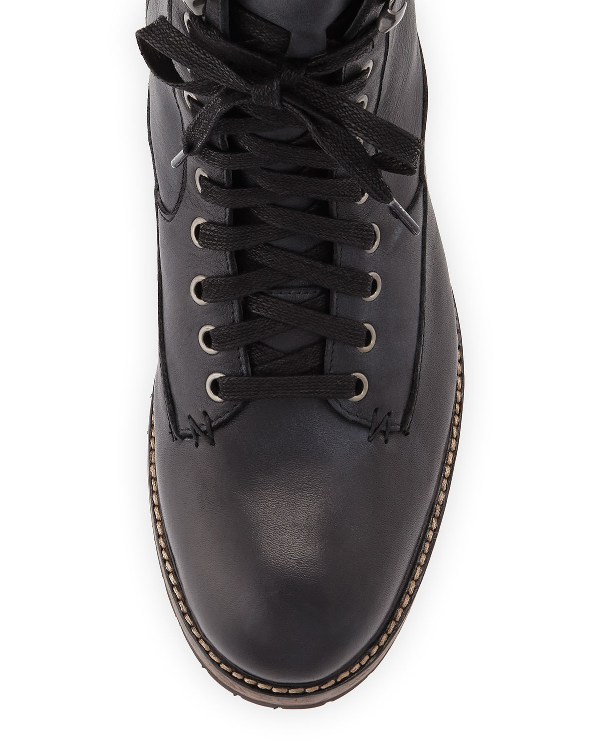John Varvatos Gibbons Tall Lace-Up Boots in Black for Men ...