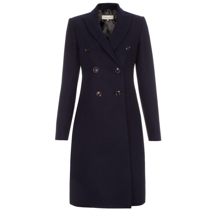 Navy wool coat women