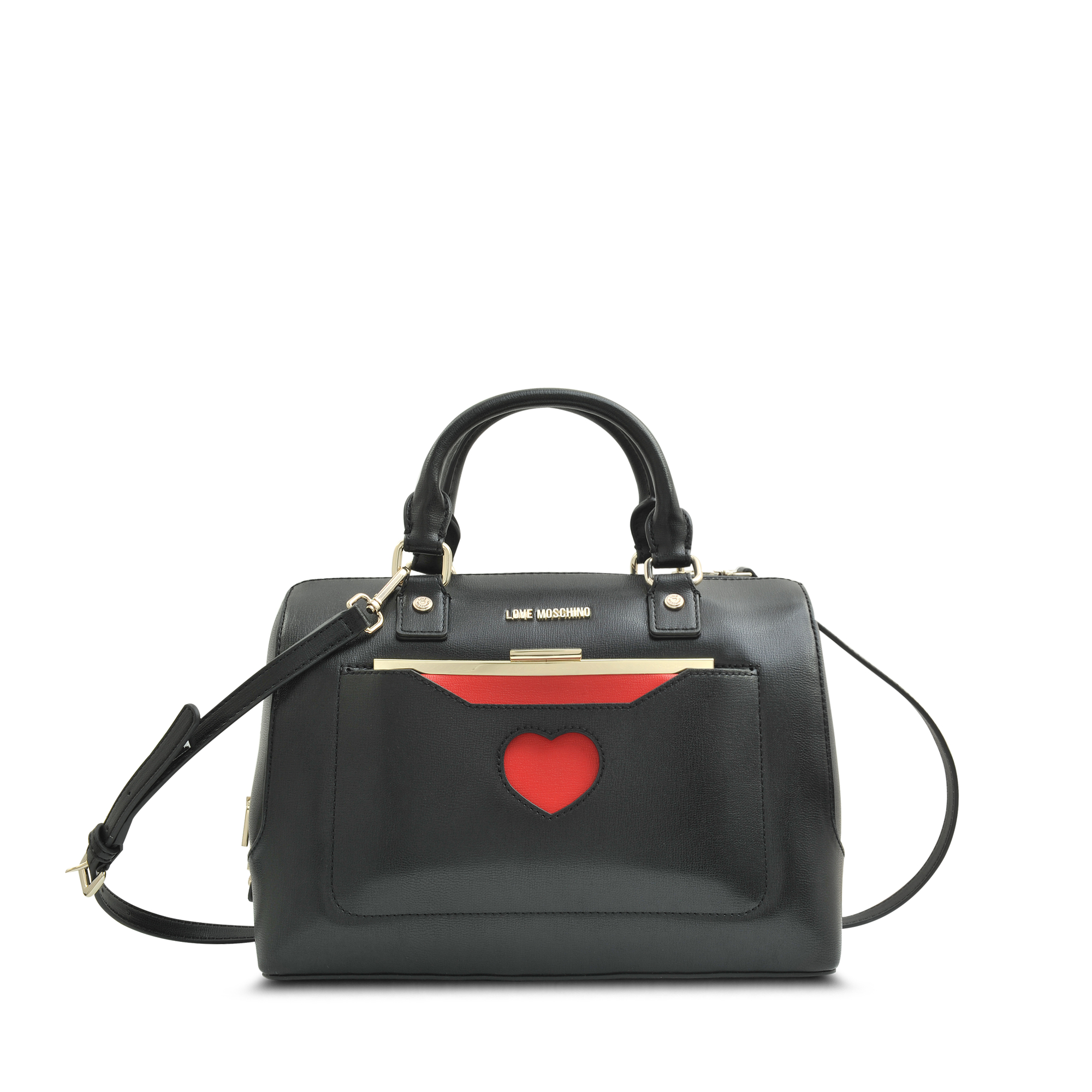 a5966eb1a9035 Love Moschino Peace Love Bowling Bag in Red - Lyst