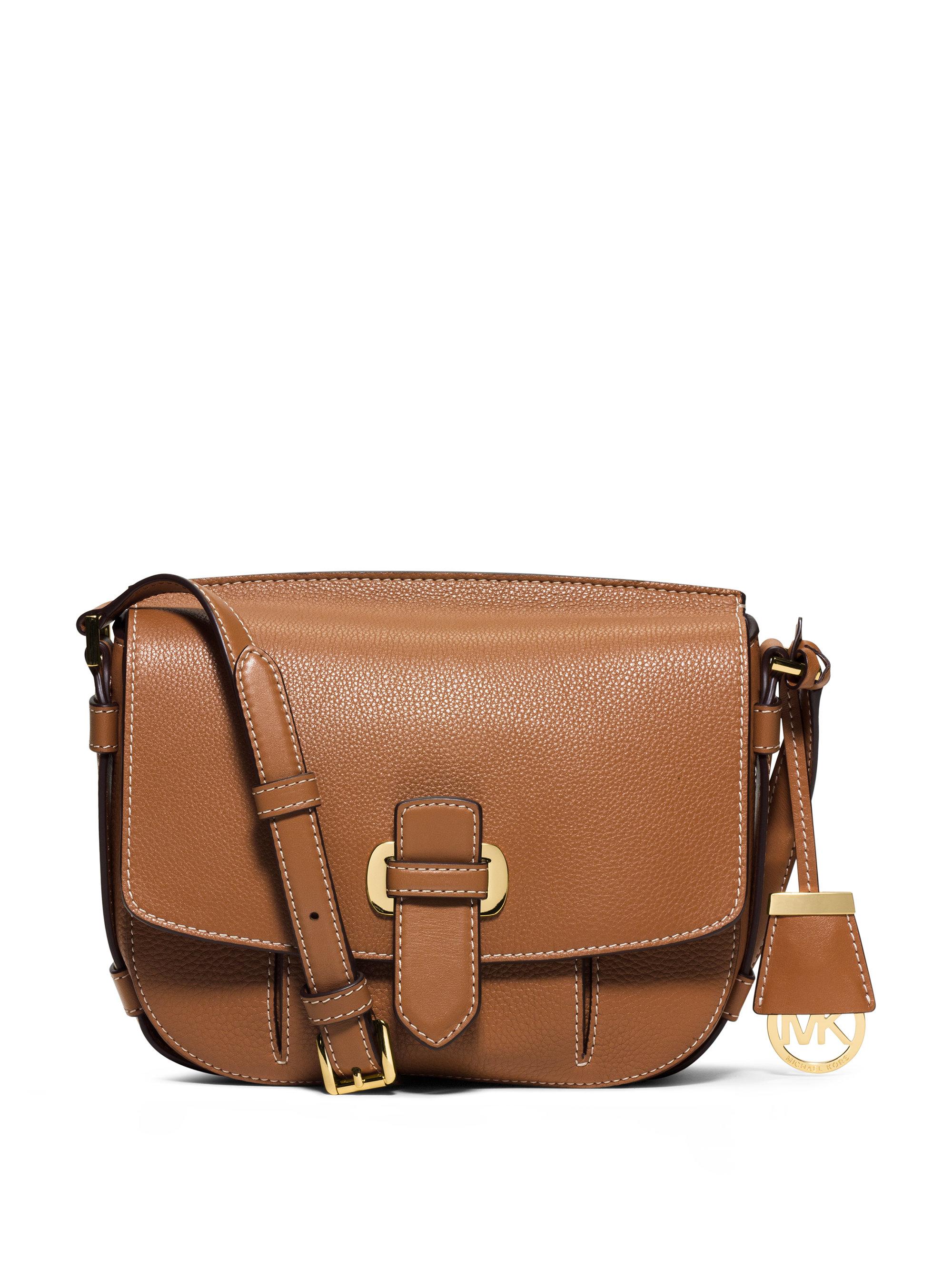e645ec59fc617e MICHAEL Michael Kors Romy Medium Leather Messenger Bag in Brown - Lyst