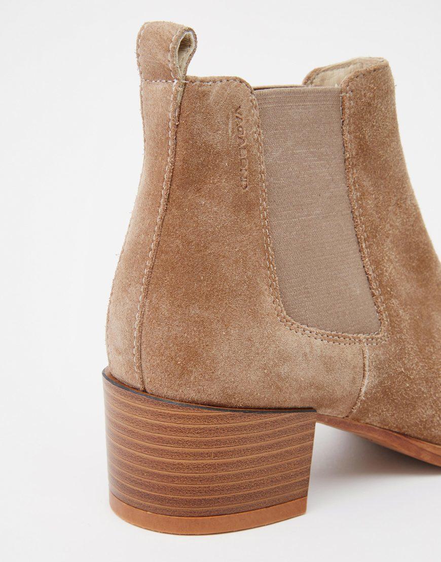 Vagabond Emira Beige Suede Ankle Boots - Beige in Brown | Lyst