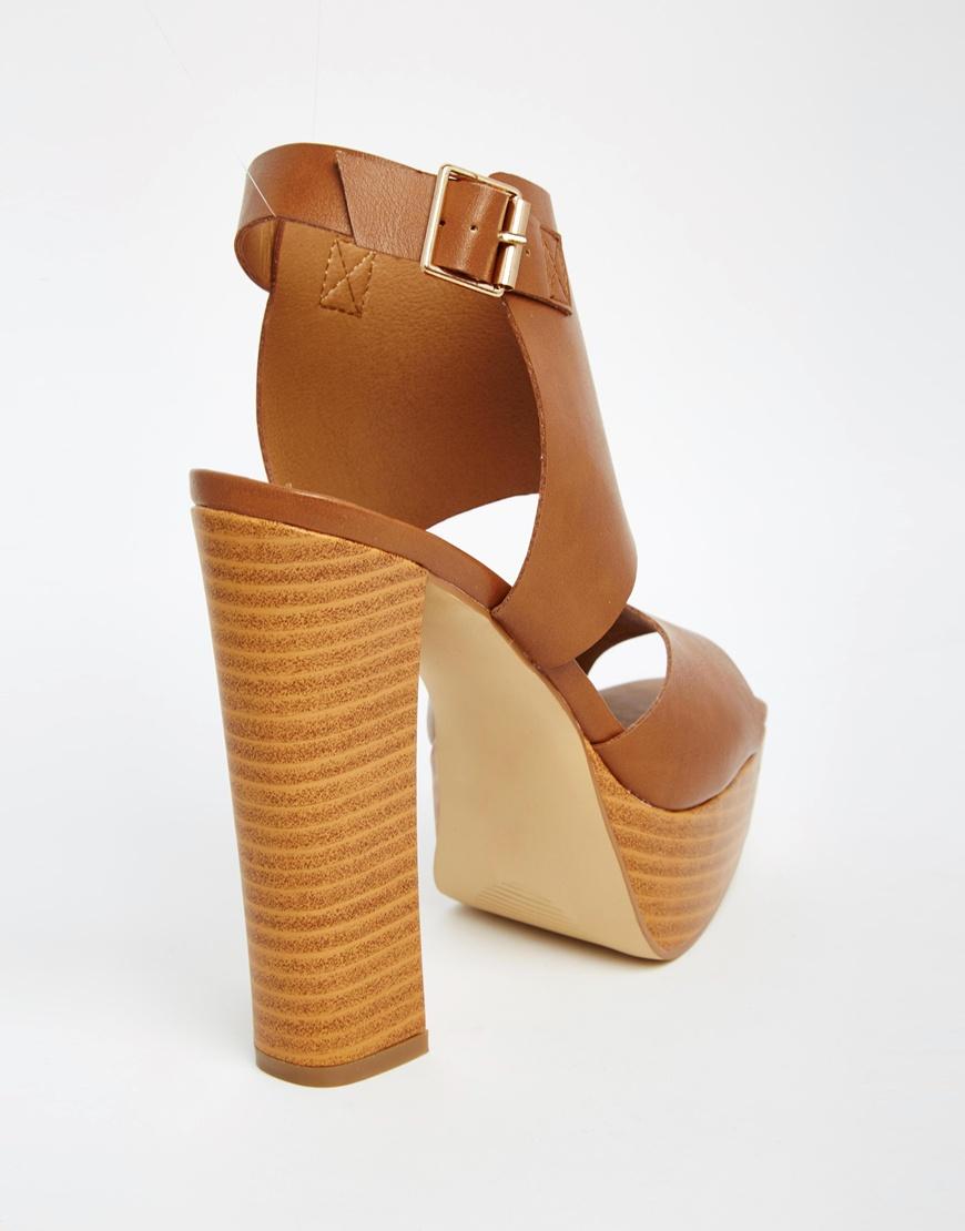 London Sandale Compensée Rebelle Boucle - Tan xz7Tmj