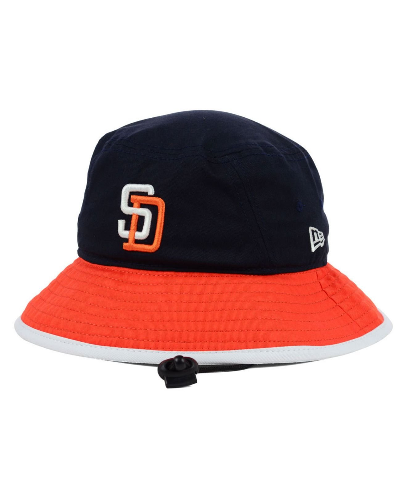 ktz san diego padres triple color tipped bucket hat in