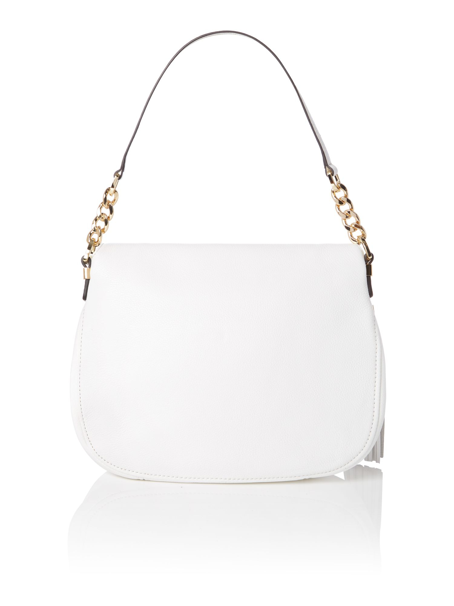 Michael kors Bedford White Flap Over Shoulder Bag in White | Lyst