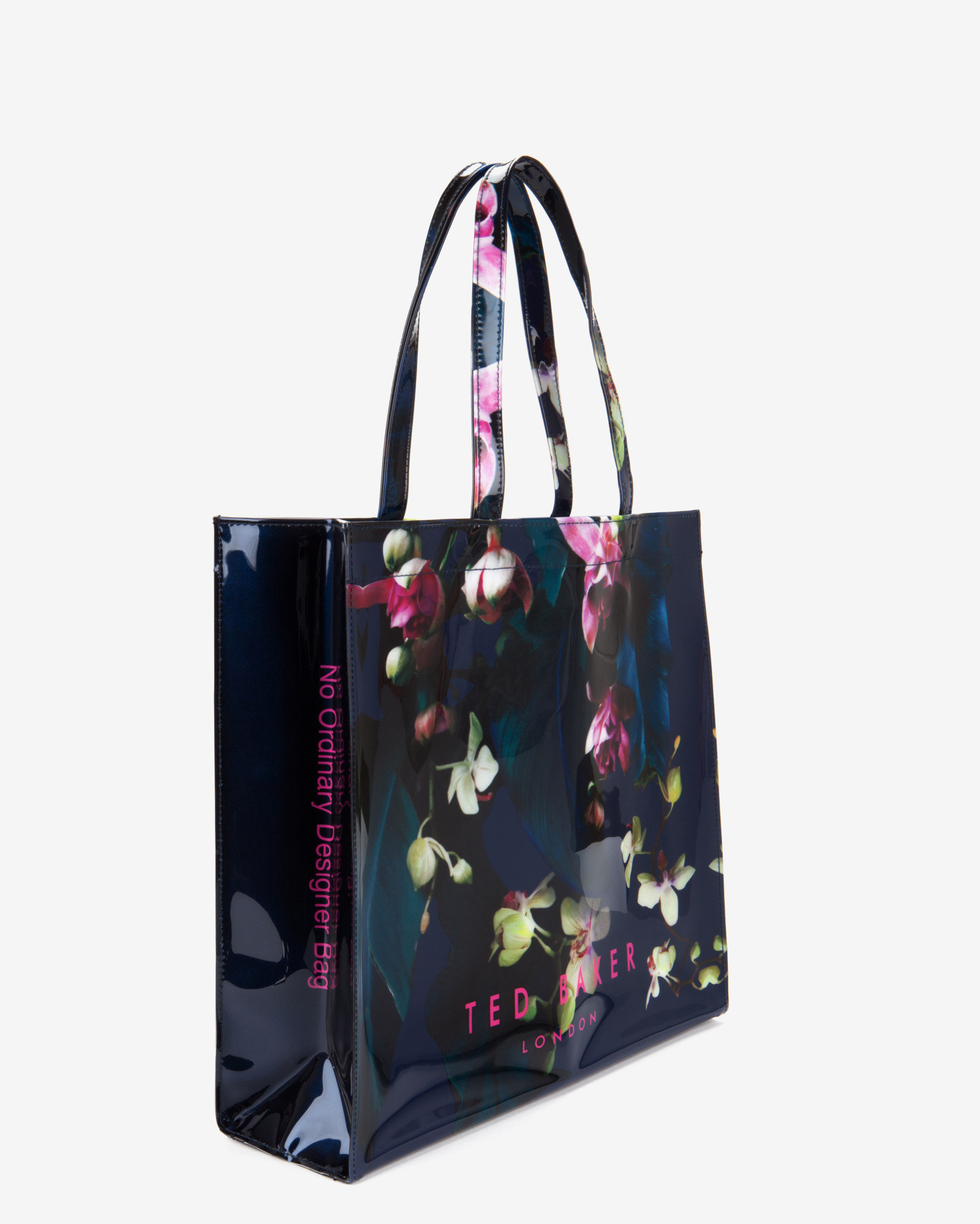 Ted Baker Large Fuchsia Floral Shopper Bag In Blue | Lyst