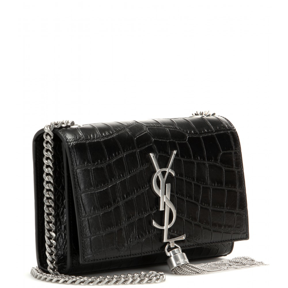 ysl copy bags - classic medium monogram saint laurent tassel satchel in black ...
