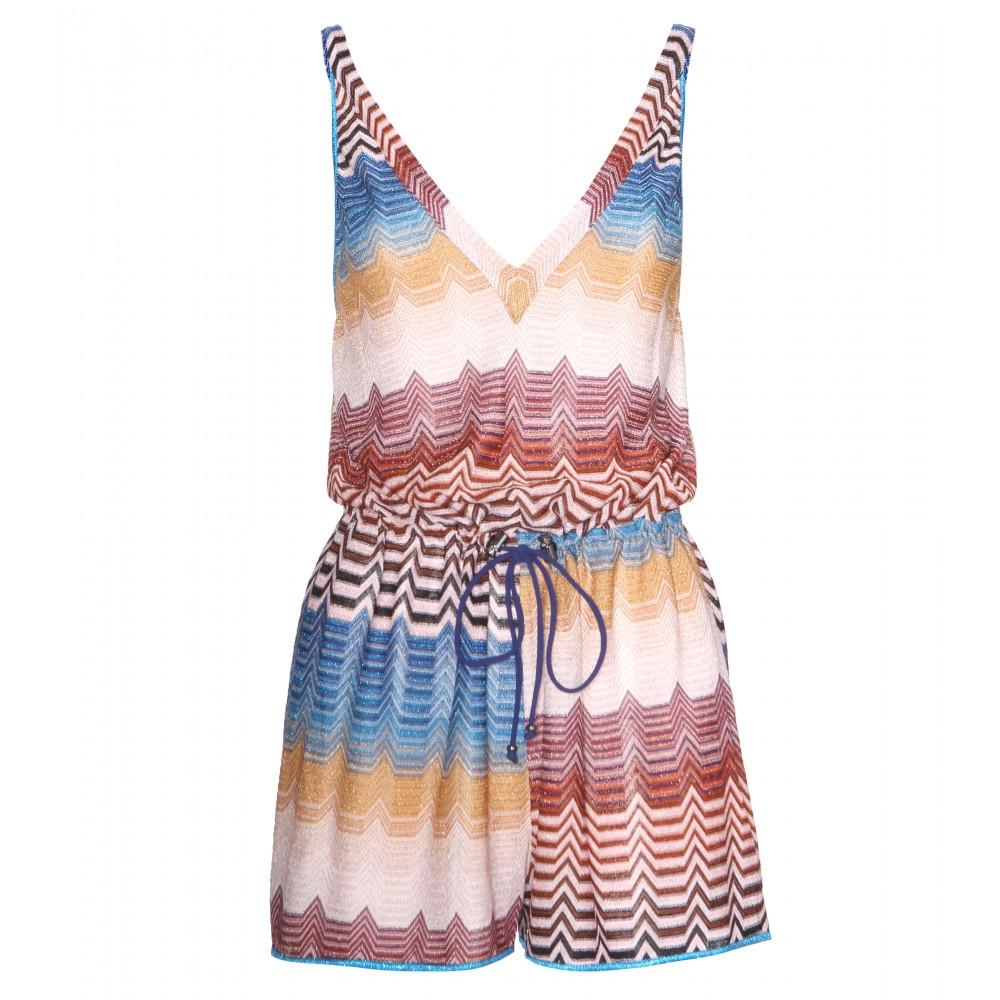 337ea9ea1afe0c Missoni Crochet-Knit Playsuit in Blue - Lyst
