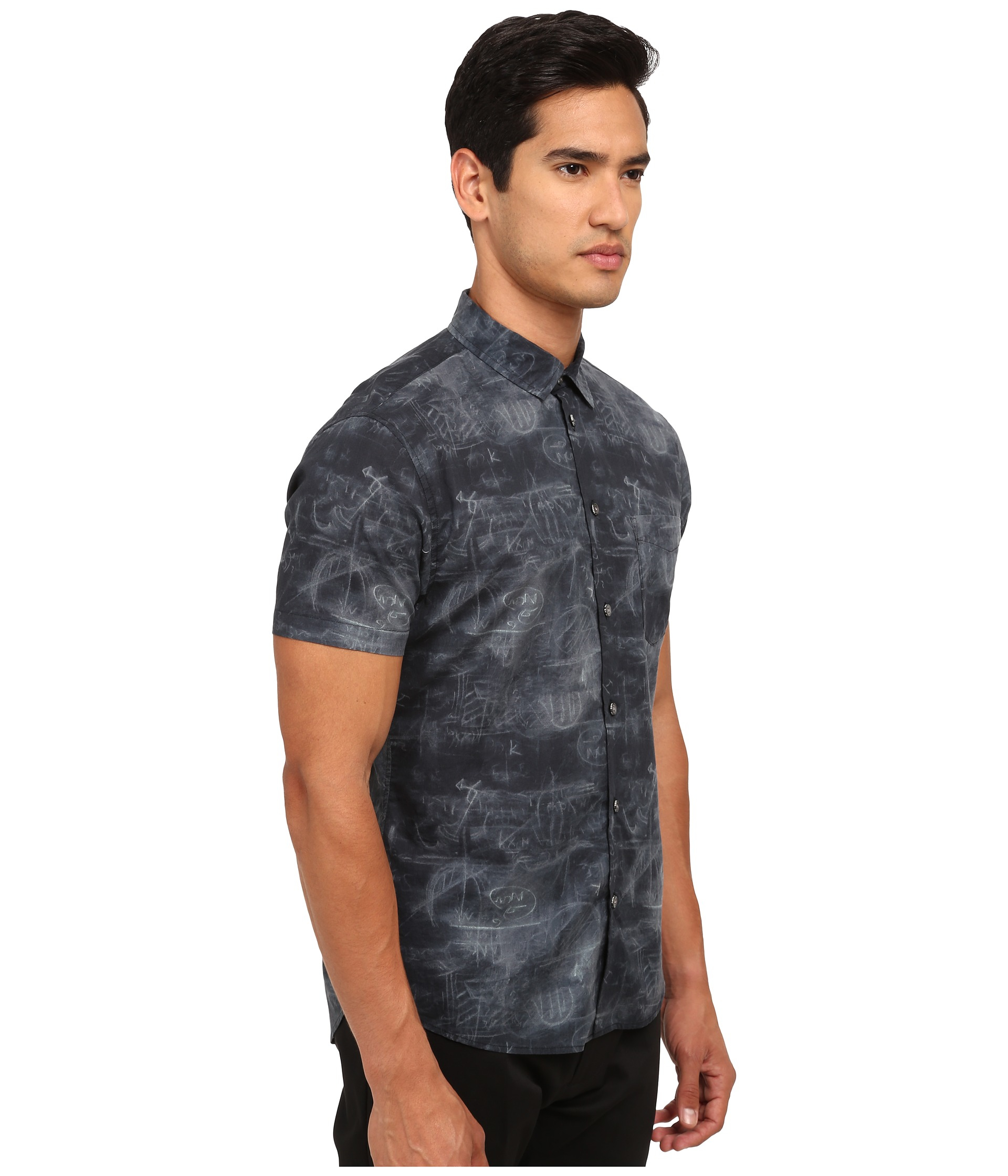 Lyst - Marc by marc jacobs Chalkboard Shirt in Black for Men