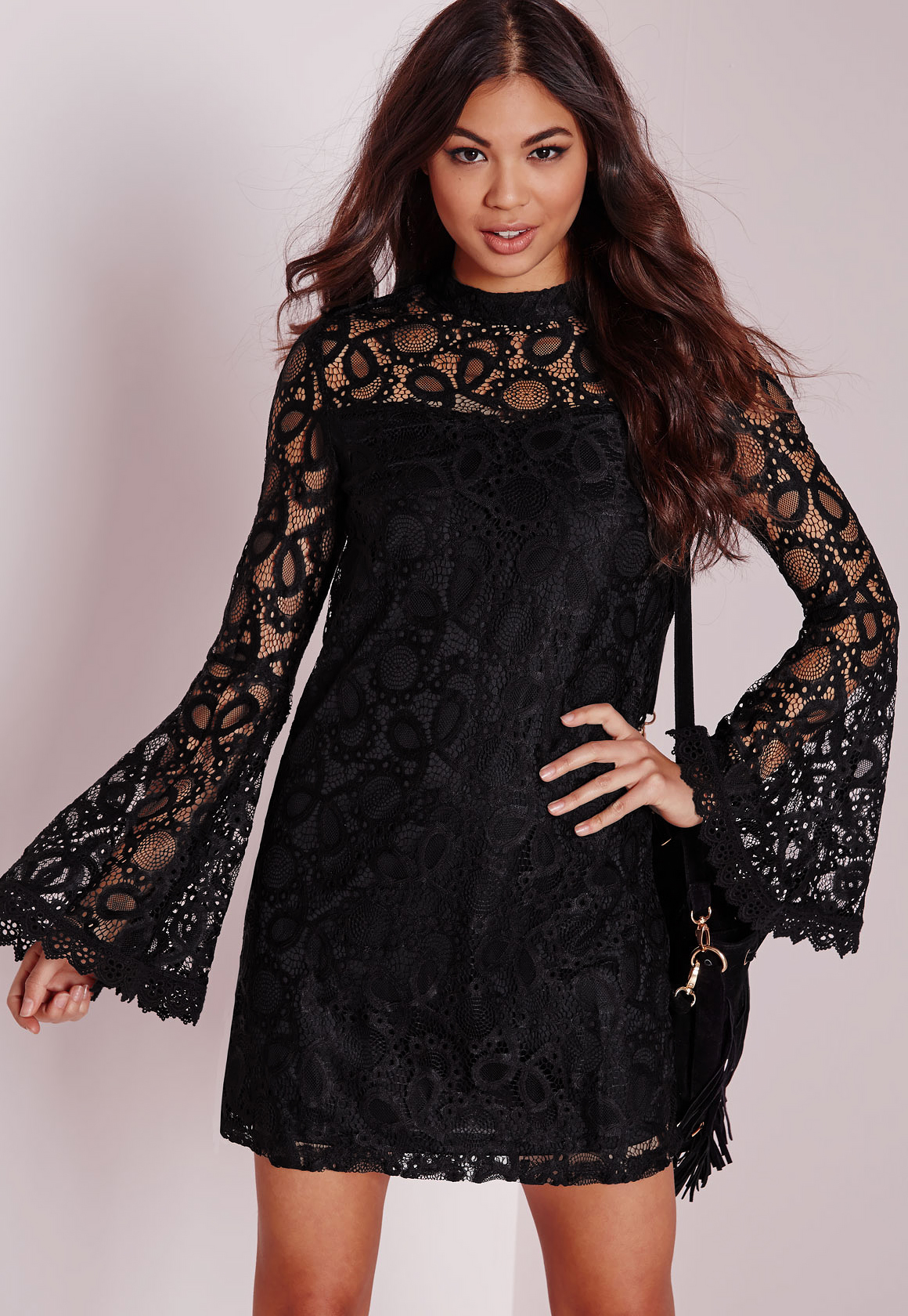 Black Lace Dresses With Sleeves