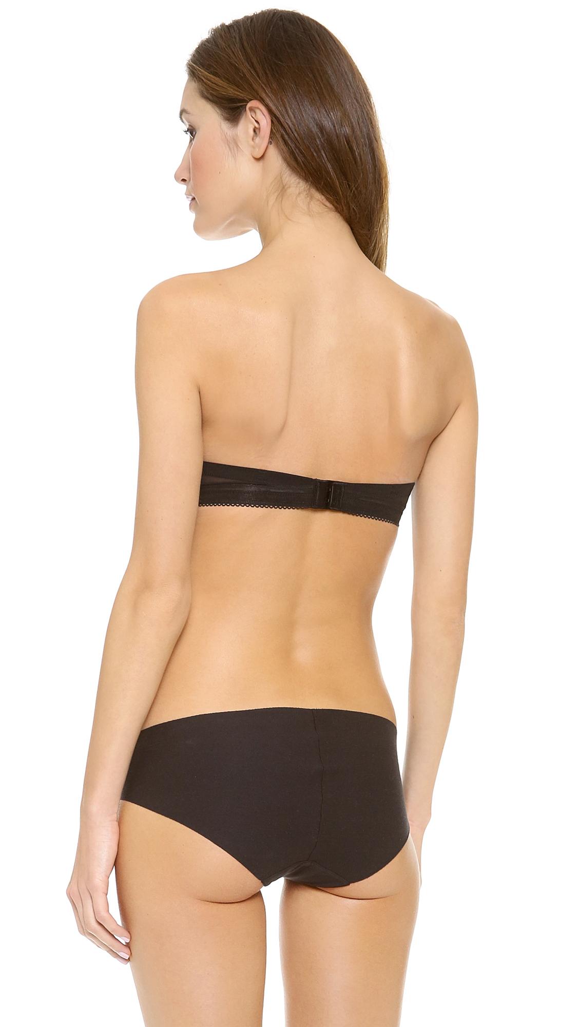 ec9946b491425a Lyst - Calvin Klein Icon Modern T-shirt Strapless Bra in Black