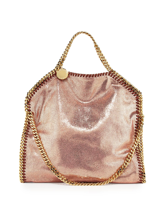 lyst stella mccartney falabella foldover tote bag copper in pink. Black Bedroom Furniture Sets. Home Design Ideas