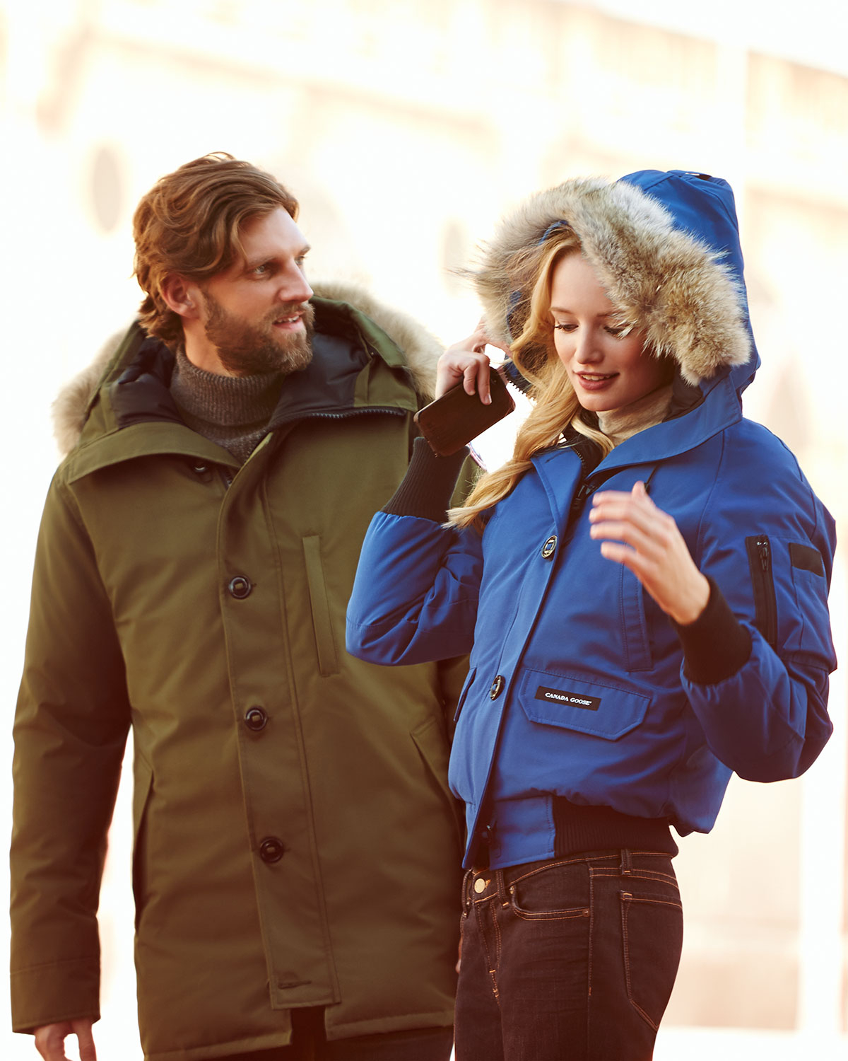 Canada Goose mens outlet 2016 - Canada goose Chilliwack Bomber Jacket With Fur Hood in Blue for ...