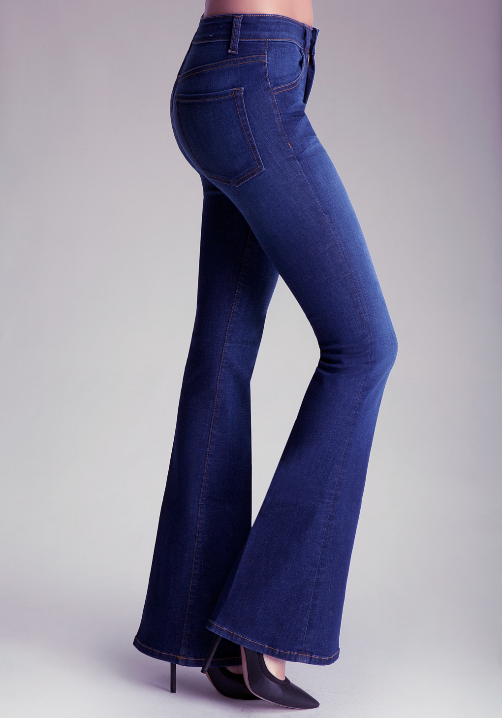 Bebe Bell Bottom Jeans in Blue | Lyst