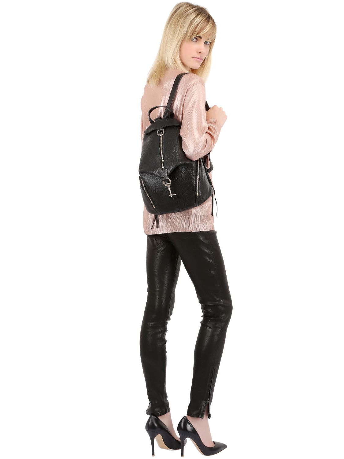 Rebecca Minkoff Julian Medium Leather Backpack McMyr