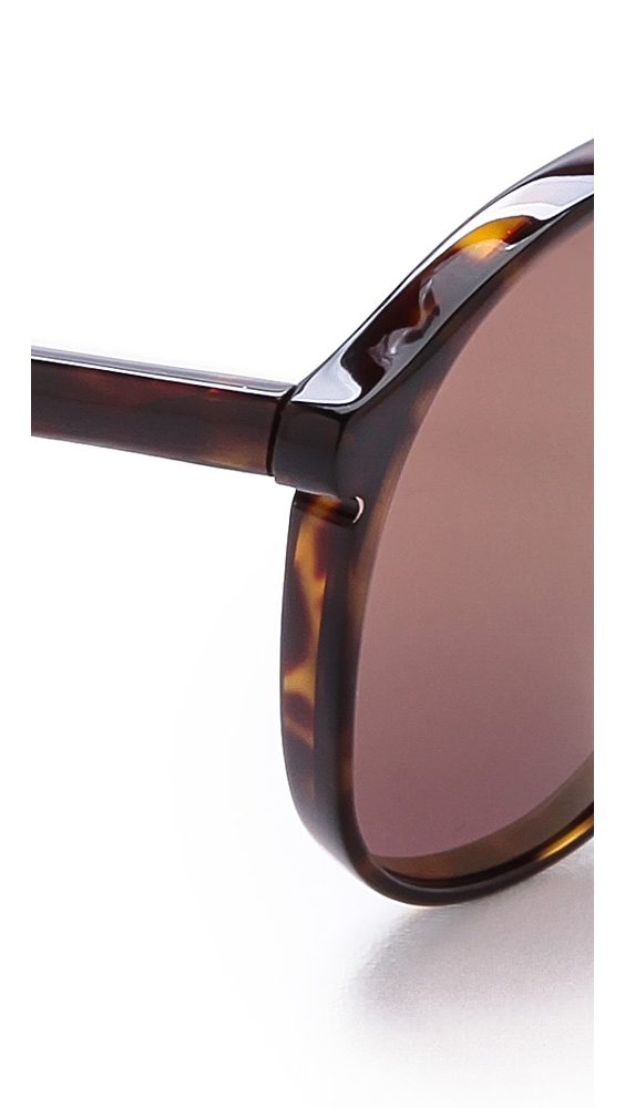 4c80265927a Lyst - Wildfox Amelia Deluxe Sunglasses - Tortoise Green Mirror in Green