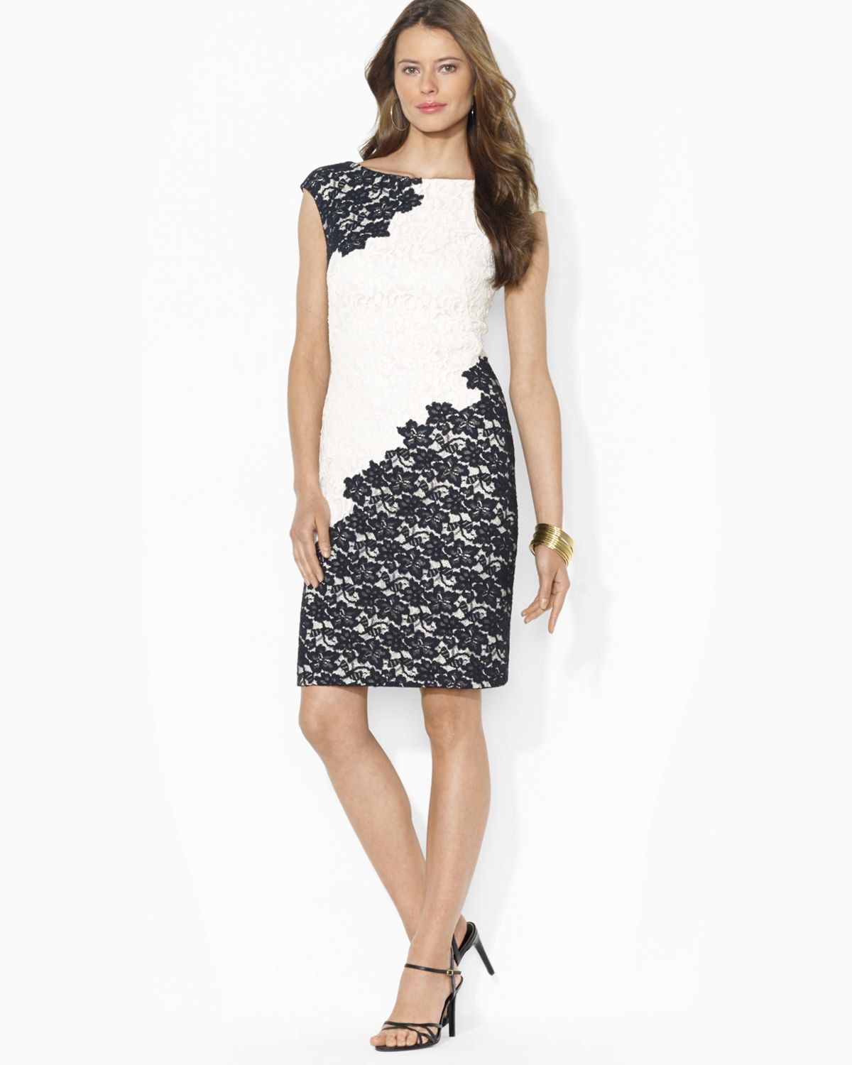 Colorblock Lace Dress