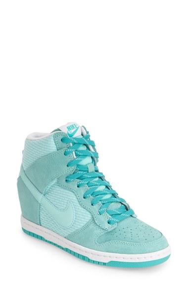 Lyst - Nike 'Dunk Sky Hi - Essential' Wedge Sneaker in Blue Nike Fast Love Sky High Wedge Sneakers