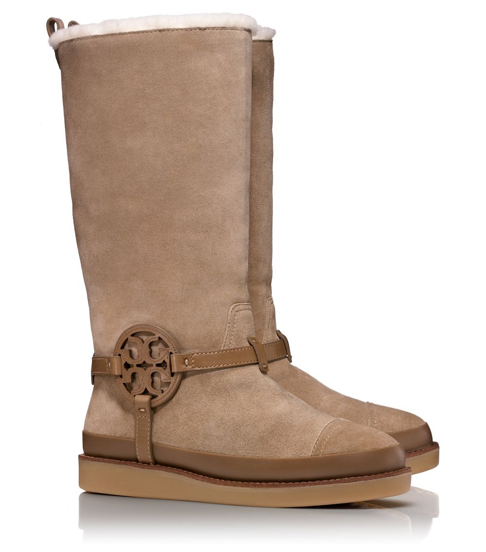 04031da38 Lyst - Tory Burch Dana Shearling Boot in Natural