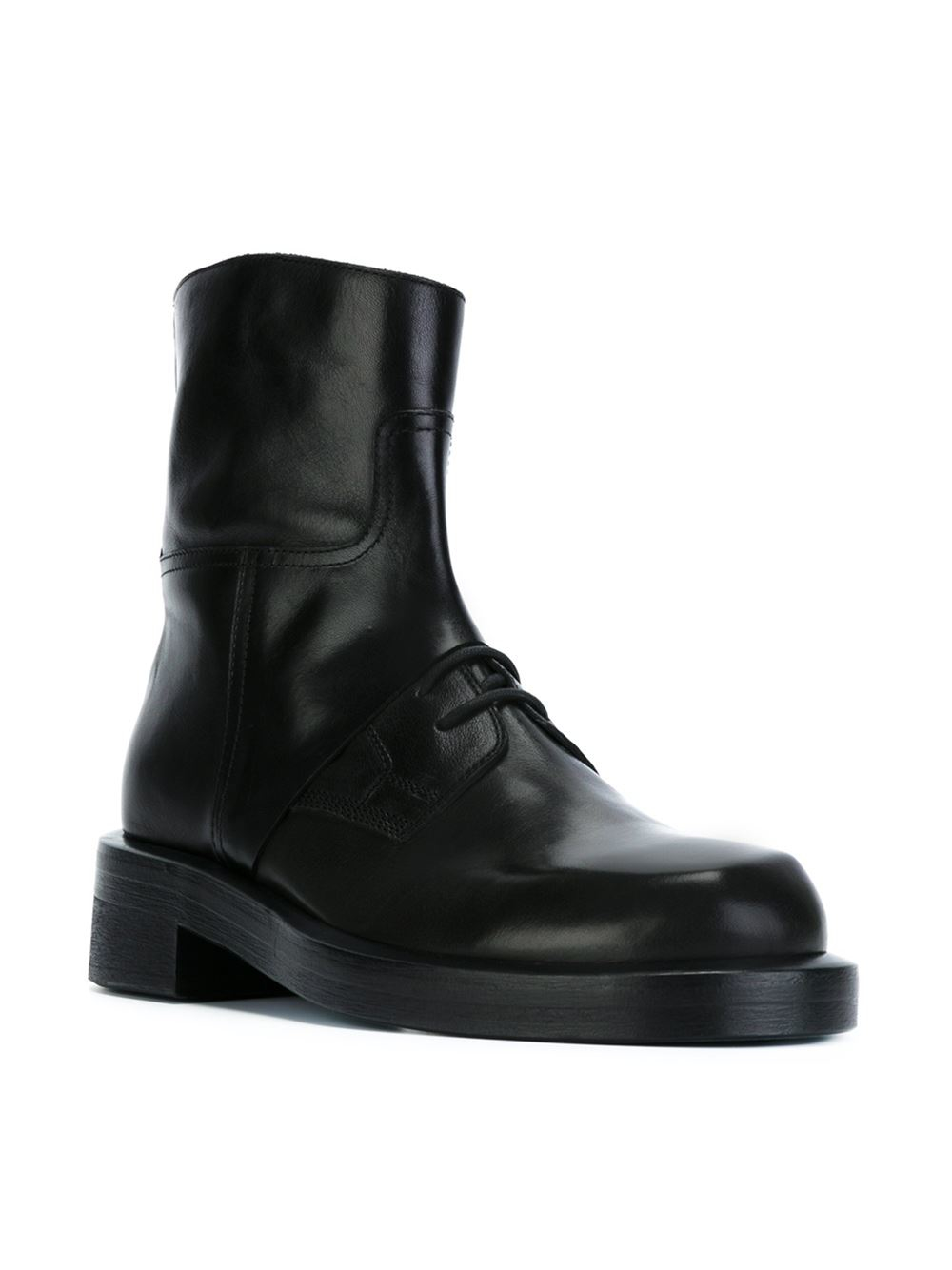 c3b53e5be377f Ann Demeulemeester Chunky Lace-up Ankle Boots in Black for Men - Lyst