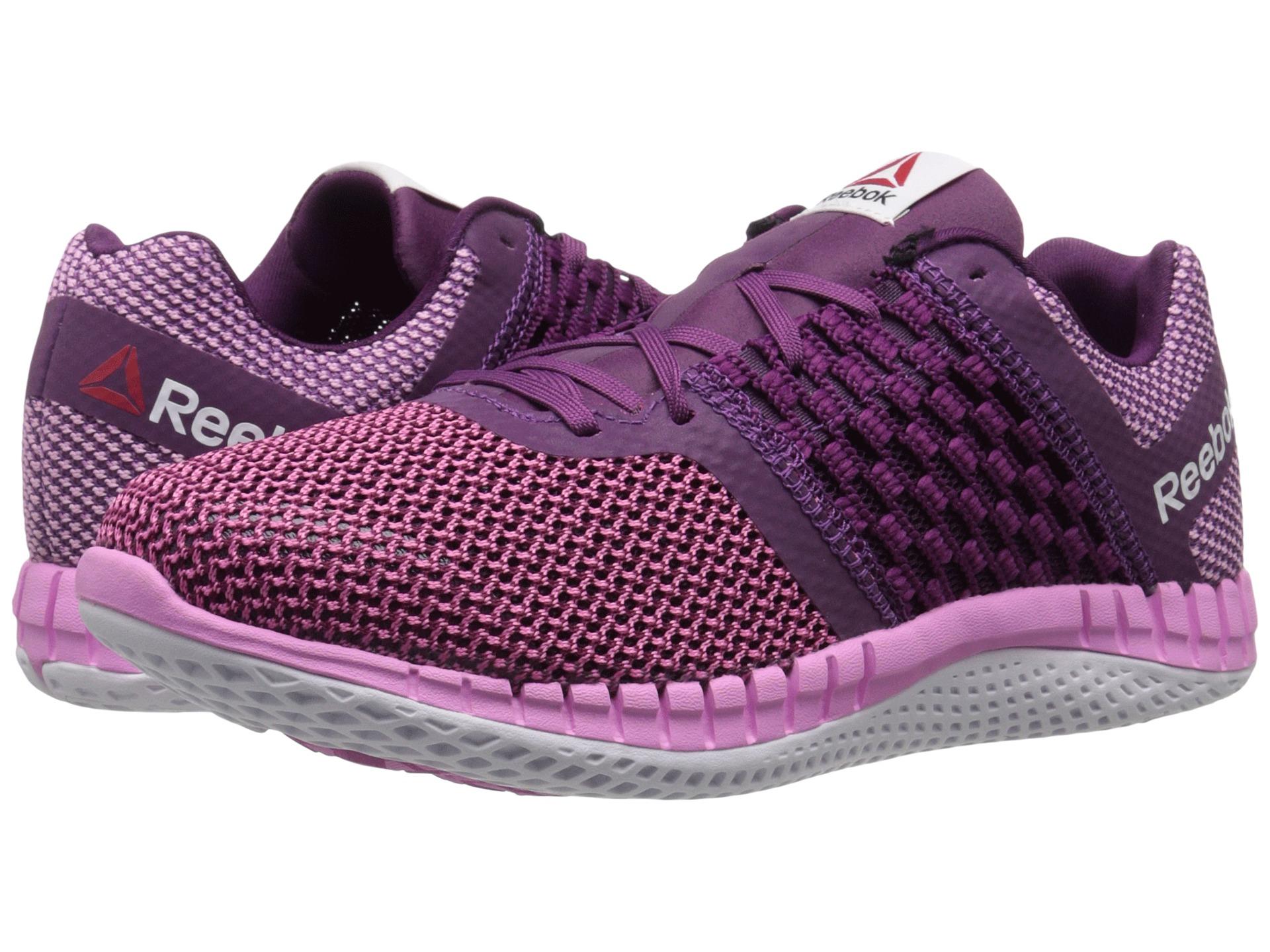 4ea08b1a3d8 Lyst - Reebok Women s Zprint Run in Purple