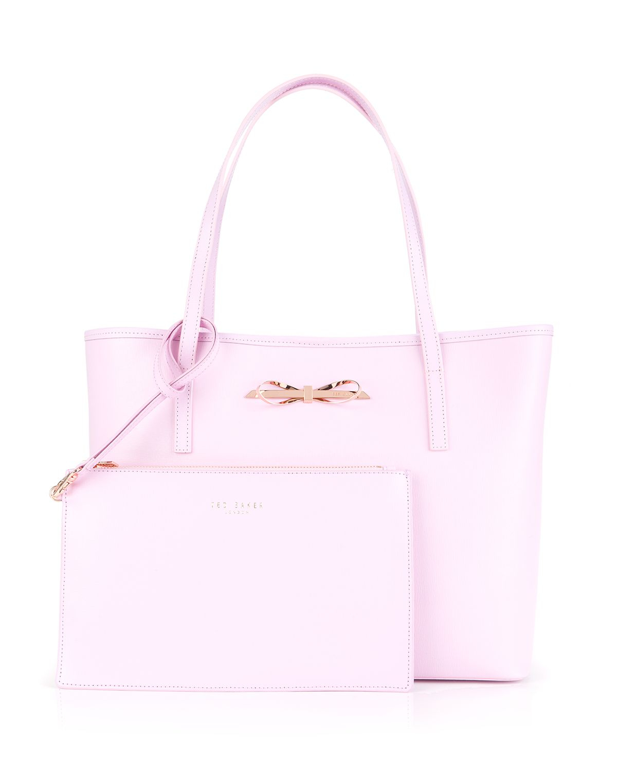 77685a0e0fc45f Lyst - Ted Baker Tote - Isabow Crosshatch in Pink