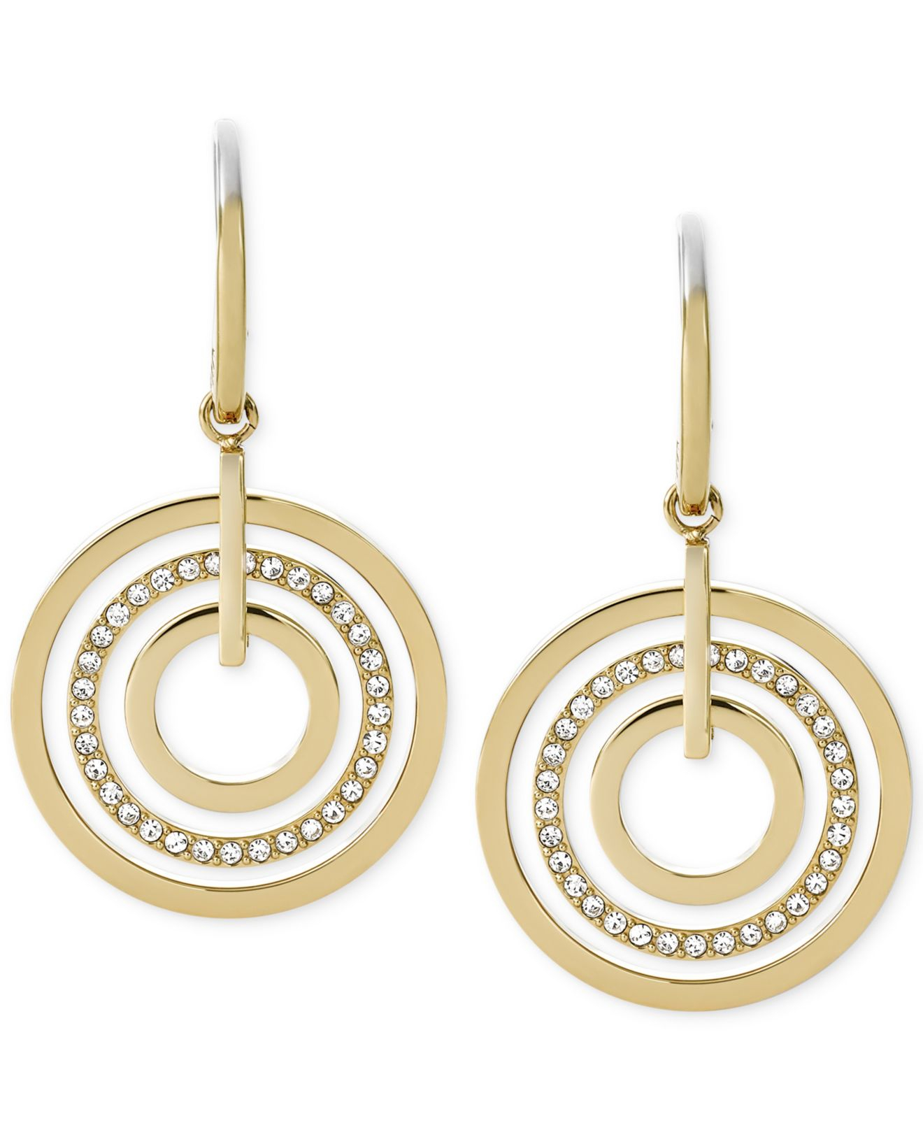 earrings studs jewellery double circular davella round oliver avella d gold bonas statement drop