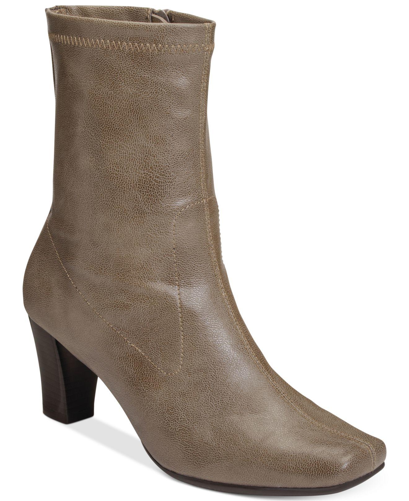 aerosoles geneva dress boots in lyst