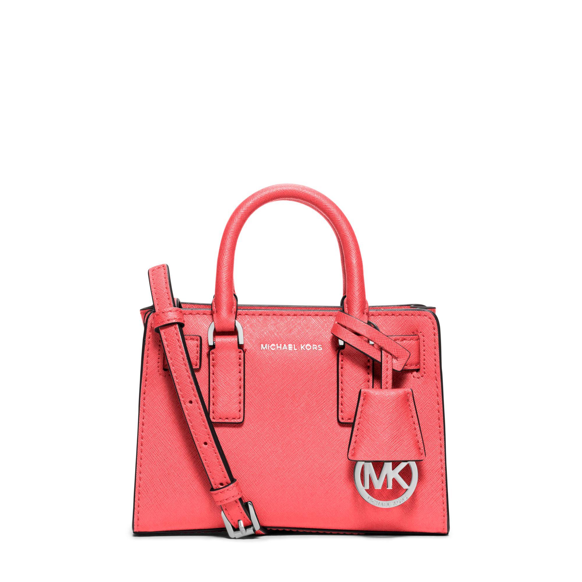 c27fa4cddf1f Michael Kors Dillon Extra-small Saffiano Leather Crossbody in Pink ...
